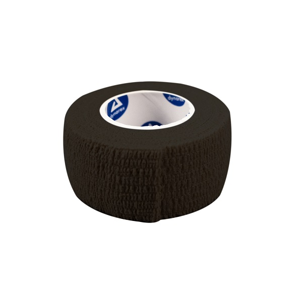 "Black Sensi Wrap, Self Adherent, 1"" x 5 yards. 30/Case."