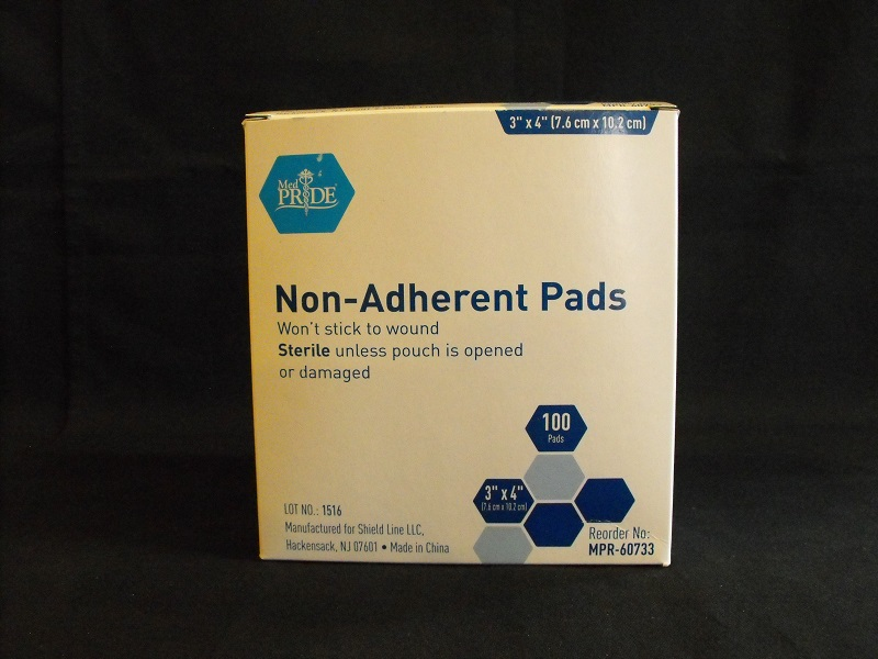 3x4 Non-Adherent Sterile Pad, 12 Boxes/Case