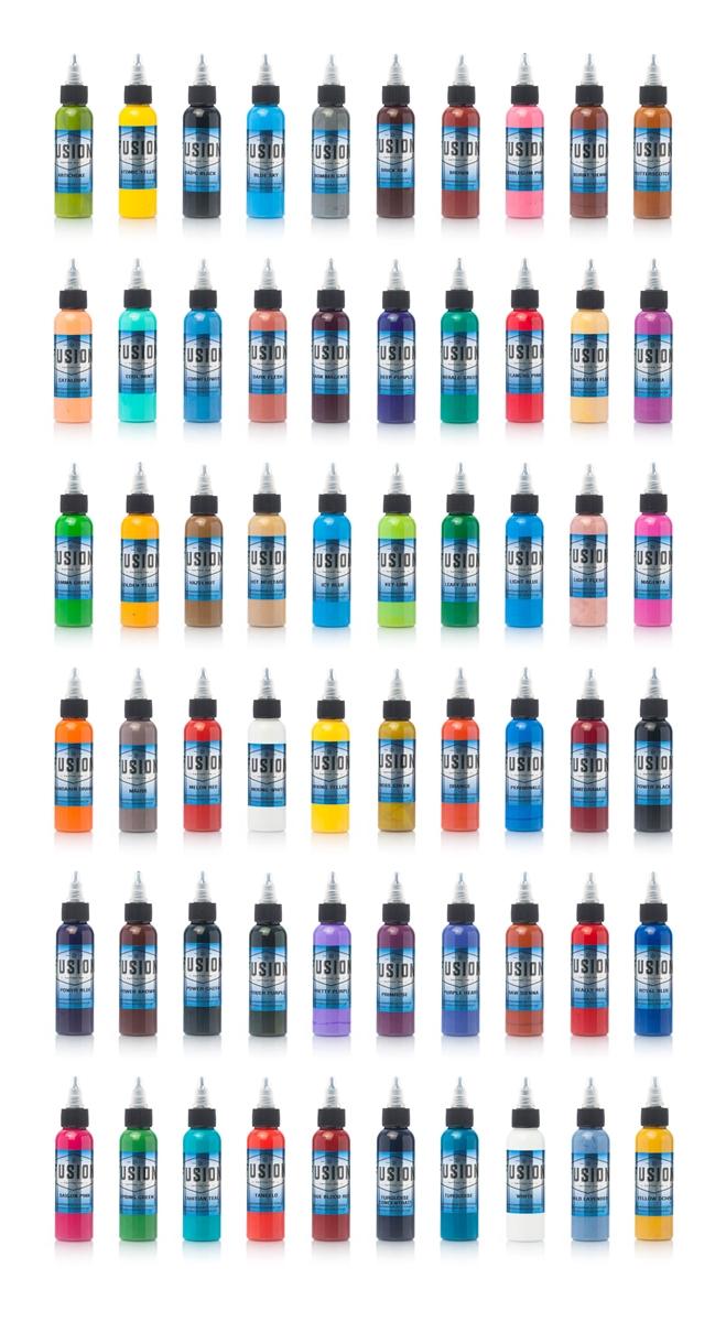 Fusion Full Set 60 Colors 2 Oz Bottles Full Set 47 Colors 2 Oz
