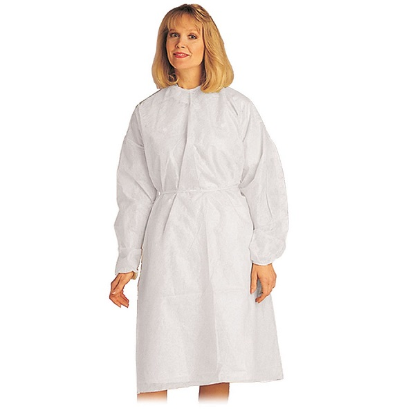 White Impervious Pro Gown, Full Back, XL