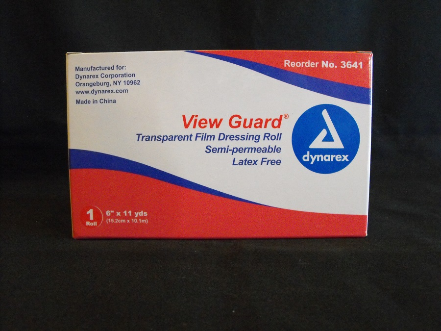 "View Guard Transparent Film Dressing Roll 6""x 11yds 12 per case"