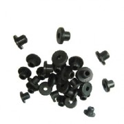 Black Rubber Nipple, 100/bag